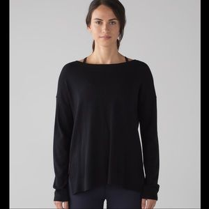 Lululemon Well Being Long Sleeve Black Sweater